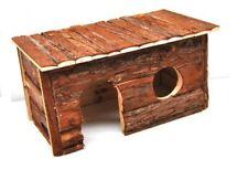 Nagerhaus mit Rinde - 40x23x20cm Kaninchen Kleintiere Holzhaus