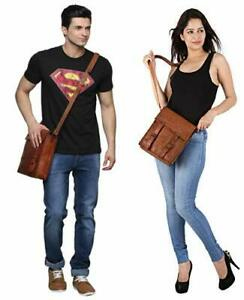 New Men's & Women's Genuine Leather Handbag Shoulder Bag Purse Sling Side Bag
