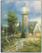 A Light In Storm Lighthouse Thomas Kinkade 100 pc Bagged Boxless Jigsaw Puzzle