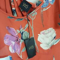 [ ANTHROPOLOGIE ] W5 Womens Floral Print Top NEW | Size L or AU 14 / US 10