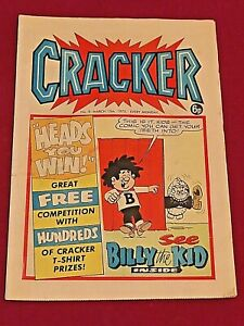 CRACKER MARCH 1975 BRITISH  COMIC
