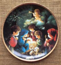 Precious Moments Collector Plate Come Let Us Adore Him Bible Story Hamilton P11