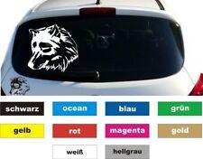 Wolf Auto Aufkleber Sticker Heckscheibe Grafik Größe 20 x 20 cm