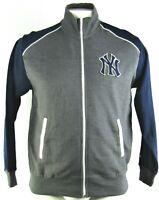 New York Yankees MLB Majestic Men's Charcoal Full-Zip Track Jacket
