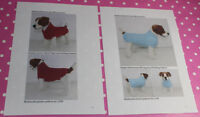 BARGAIN 2 x KNITTING PATTERN INSTRUCTIONS - 2 X DOG COAT KNITTING PATTERNS