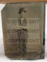 Saloon Bartender Lucky Gambler Dude Western Wild West Tintype Photograph Photo