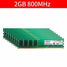 For Crucial 16GB 8x 2GB 1GB PC2-6400U DDR2 800MHz 1.8V Computer Desktop RAM LOT