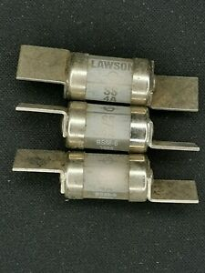 PACK OF 3 Lawson SS4 4 Amp compact fuse link 240V a.c.