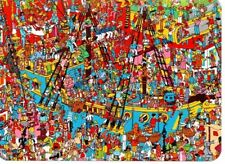 "Where's Wally? novelty postcard. ""Toys! Toys! Toys!"""