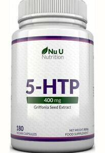 Nu 5-HTP 400mg 180 Caps Griffonia Extract Seeds 5-HTP Fat Burner Max. Strength