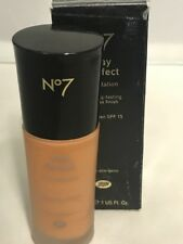 No7 ~ Boots Stay Perfect Foundation Sunscreen SPF 15, 1 FL. OZ. ~ # 50 Truffle