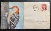 1940 Woodpecker BC Canada Cover To Noblesville IN USA