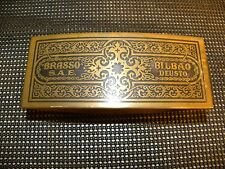 Vintage FANTASTIC ANTIQUE BRASSO S. A. E. CLEANING CLOTH HOLDER. CIRCA 1920'S.