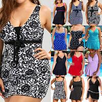 Plus Size Women Swimming Dress Swimsuit Tankini Swimwear Beachwear Bathing Suit