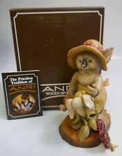 "Anri ""Green Thumb"" 5"" Hand Carved Wood Figurine Sarah Kay Figurine-Mint In Box"