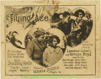 THE FLYING ACE MOVIE POSTER 1926 Title Lobby Card 11x14 Inch  WWI FIGHTER PLANES