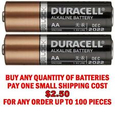 2 in each order Duracell AA Alkaline Coppertop Long Lasting Batteries w/DuraLock