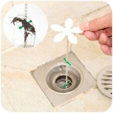 Home Bathroom Shower Flower Drain Chain Clean Hair Clog Remover Cleaning Tool RU