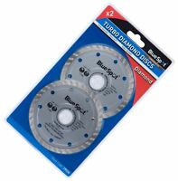 2 x 115mm Turbo Diamond Angle Grinder Grinding Stone Concrete Cutting Disc 4.5""