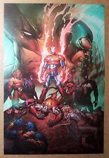 Dark Avengers Iron Man Patriot X-Men Marvel Comics Poster by Marc Silvestri