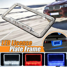Plastic Lighted License Plate Frame White LED Lighting 12v for Car Rv Truck