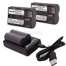 BP-511A LCD Battery Charger with 2pcs Li-ion Batteries for Canon 300D 50D 10D