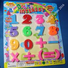 17pc Nevera Imán Magnético números dígitos Matemática Sumas símbolo conjunto multicolor