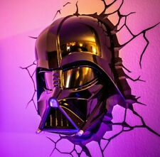 Life-sized Darth Vader Helmet Wall Mount 3D Deco Light. Cool & scary