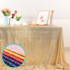 Rectangle Table Cloths 100x150cm Wedding Party Sequin Glitter Cover Decorations
