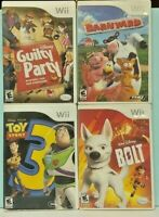 Nintendo Wii Wii U Games Disney Barnyard Bolt Guilty Party Toy Story 3 Kids Lot