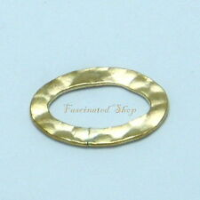 14K Gold Filled 10x14mm 2pcs. Hammered Oval Links Finding New