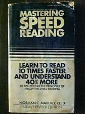 Master Speed Reading by Norman C. Maberly (paperback) store#2147