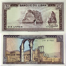 LIBAN Billet neuf de 10 LIVRES Pick63f ruines d ANJAR ROCHERS PRES BEYROUTH 1986