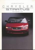 Chrysler Stratus Cabrio Prospekt 8/95 Vorabinformation 1995 brochure Auto PKWs