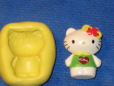 Hello Kitty Irish Push Mold Flexible Resin Clay Candy Food Safe Silicone  #656
