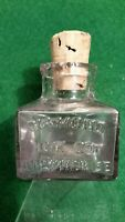 Antique Embossed Diamond Ink Co Inkwell Milwaukee With Original Cork Stopper