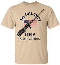 USMC T-Shirt US Marines .50 Caliber Gun MOS 0311 Infantry Semper Fi Men Cotton