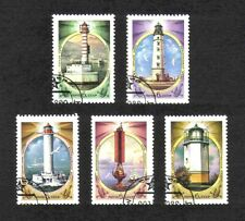 Russia 1982 Lighthouses complete set of 6 values (SG 5292-5296) used