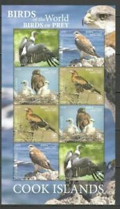 Cook 2019 birds of prey EAGLES, HAWKS, VULTURES klb MNH mich 2257-60 230 euro