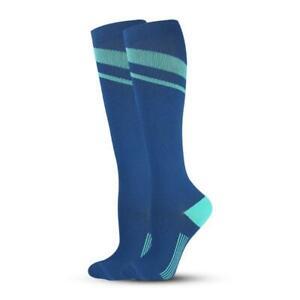 Unisex Graduated Colorful Patterned Compression Knee High Socks for Men & Women