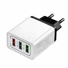 3 Port Fast Charge 3.0 USB Hub Phone Home Wall Charger Power Adapter EU Plug