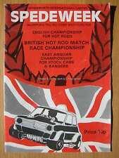 Stock Car Racing Programme Spedeworth Spedeweek August 1975 Hot Rod English