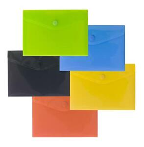 eco-eco Pack 5 A6 50% Recycled Colour Press Stud Wallets