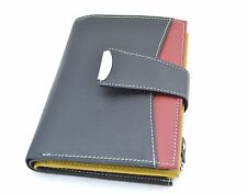 Genuine Leather Wallet Purse Ladies Credit Card ID Slot Zipper Coin Pocket Black