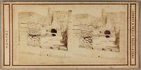 Pompei Italia Foto Sommer & Behles Stereo PL55L1n2 Vintage Albumina c1865