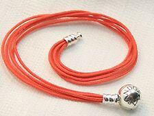 New Authentic Pandora Sterling Multi Strand Orange Cord Bracelet 590715COE-M2