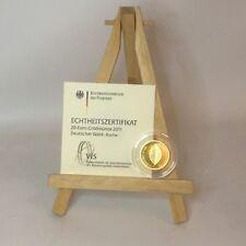 20 EURO DEUTSCHLAND 2011 D Deutscher Wald Buche Gold-Münze inkl. Zertifikat