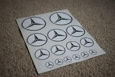 Mercedes Car Vehicle Star Logo Badge Racing Tuning Decal Stickers