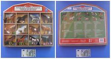 Serie completa 12 cavalli velluto collezione espositore in legno Melissa e Doug