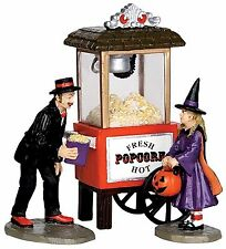 Lemax 32112 POPCORN TREATS Spooky Town Figurine Set of 3 Halloween Decor R